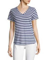 Vineyard Vines - Striped V-neck Tee - Lyst