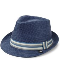 Block Headwear | Stripe Band Straw Trilby | Lyst
