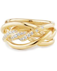 David Yurman - Continuance Ring With Diamonds In 18k Gold - Lyst