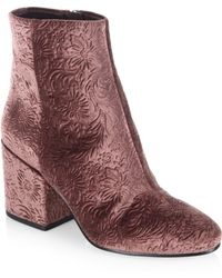 Sam Edelman - Taye Textured Booties - Lyst