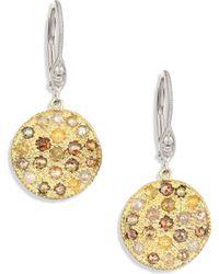 Meira T - White Diamond, Rough Diamond, 14k Yellow Gold & 14k White Gold Drop Earrings - Lyst