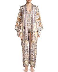 Camilla - Print Silk Duster Kimono Coat - Lyst