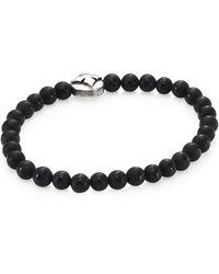 King Baby Studio - Onyx Beads & Sterling Silver Bracelet - Lyst