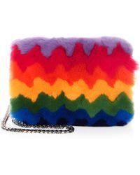 Les Petits Joueurs - Ginny Rainbow Rabbit Fur Wallet - Lyst