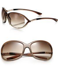 Tom Ford - Jennifer 61mm Round Sunglasses - Lyst