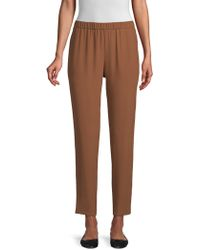 Eileen Fisher - Silk Slouchy Ankle Trousers - Lyst