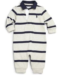 Ralph Lauren - Baby's Striped Coverall - Lyst