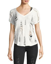 True Religion - Distressed Cotton Tee - Lyst