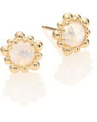 Anzie - Dew Drop Moonstone & 14k Yellow Gold Stud Earrings - Lyst