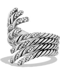 David Yurman - Willow Diamond & Sterling Silver Open Four-row Ring - Lyst