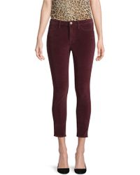 FRAME - Le Velveteen Skinny Jeans - Lyst