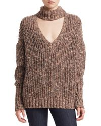 Cinq À Sept - Adia Choker Chunky Knit Sweater - Lyst