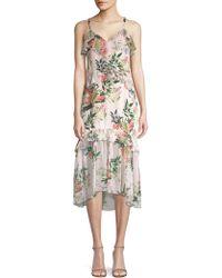 Parker - Josie Floral Silk Midi Dress - Lyst