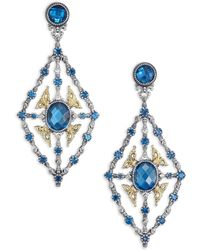 Konstantino - Thalassa London Blue Topaz, 18k Yellow Gold & Sterling Silver Chandelier Earrings - Lyst