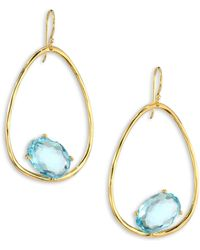 Ippolita - Rock Candy? Blue Topaz & 18k Yellow Gold Oval Earrings - Lyst