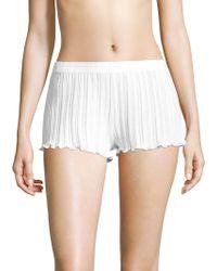 Skin | Ruffled Cotton Shorts | Lyst