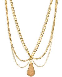 Chan Luu - Scalloped Agate Pendent Necklace - Lyst
