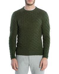 Eleventy - Cable-knit Cashmere Sweater - Lyst