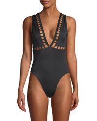 OYE Swimwear - Ela Plunge One-piece Swimsuit - Lyst