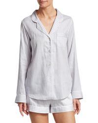 Cottonista - Shortie Stripe Pyjama Set - Lyst