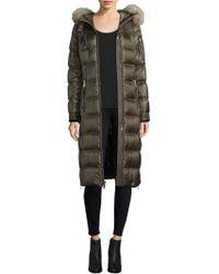 Andrew Marc - Dyed Fox Fur Trim Puffer Coat - Lyst