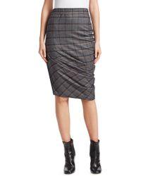 Brunello Cucinelli - Plaid Pencil Skirt - Lyst