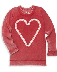Chaser - Little Girl's & Big Girl's Candy Heart Sweatshirt - Lyst