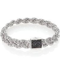 John Hardy - Classic Chain Black Sapphire & Sterling Silver Large Bracelet - Lyst