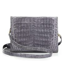 Nancy Gonzalez - Small Crocodile Clutch - Lyst