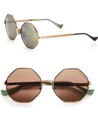 Cutler & Gross - 51mm Octagon Sunglasses - Lyst