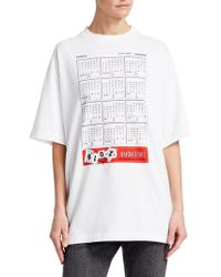 Vetements - Oversized Calendar Print Tee Shirt - Lyst