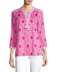 Vineyard Vines - Medallion Print Blouse - Lyst