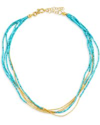 Gurhan - Five-strand 24k Yellow Gold & Turquoise Necklace - Lyst