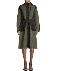 Sandy Liang - Peplum Lace Hooded Jacket - Lyst