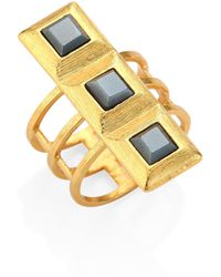 Stephanie Kantis - Quad Square Hematite Ring - Lyst
