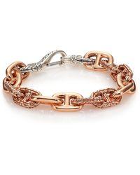 John Hardy - Classic Chain Sterling Silver & Bronze Link Bracelet - Lyst