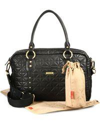 Storksak - Elizabeth Quilted Leather Baby Bag - Lyst
