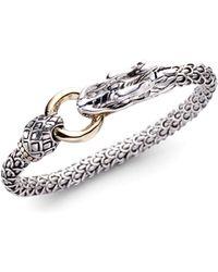 John Hardy - Naga 18k Yellow Gold & Sterling Silver Dragon Bracelet - Lyst