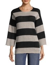 Eileen Fisher - Striped Knit Pullover - Lyst