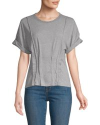 Current/Elliott - Pin-tuck Cotton T-shirt - Lyst