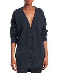 T By Alexander Wang - Chunky Wool Cardigan - Lyst