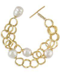 Majorica - Baroque Pearl Openwork Chain Bracelet - Lyst