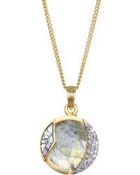 Shana Gulati - Duoro Diamond, Sliced Raw Diamond & Labradorite Pendant Necklace - Lyst