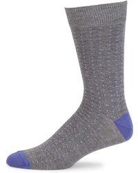Saks Fifth Avenue - Collection Birdseye Ribbed Knit Socks - Lyst