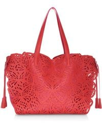 Sophia Webster - Liara Lasercut Leather Tote - Lyst