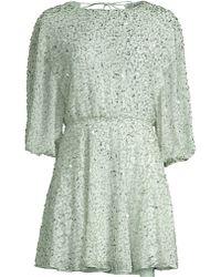 baaa061b9 Alice + Olivia - Women's Palmira Embellished Dress - Venus Blue - Lyst