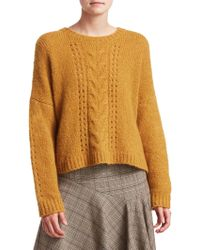 Nanette Lepore - Perfect Cable-knit Pullover - Lyst