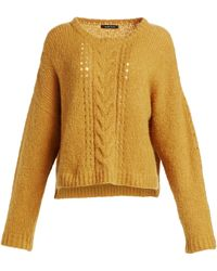 Nanette Lepore - Women's Perfect Cable-knit Pullover - Gold - Lyst