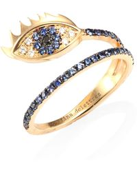Delfina Delettrez - Anatomik Marry Me Diamond & Blue Sapphire Ring - Lyst