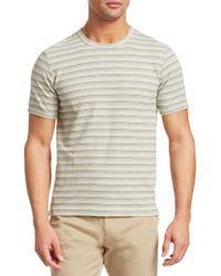 Saks Fifth Avenue - Men's Modern Striped Tee - Green Combo - Size Small - Lyst